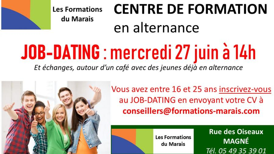 JOB-DATING mercredi 27 juin à 14h
